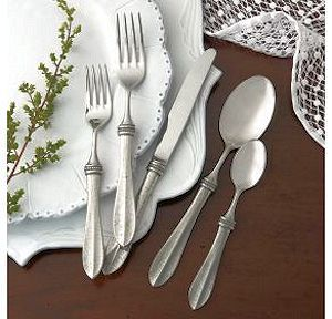 The hammered detail of this solid pewter handled flatware showcases the talents of fine Italian artisans. Italian pewter and 18/10 stainless steel. & Designer Flatware - Pewter Flatware Classic Italian Pewter Upscale ...