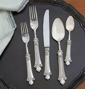 Classic Pewter Flatware Pattern: Giglio The Ornate Detail Of Our Giglio  Flatware Beautifully Showcases The Talents Of Fine Italian Artisans.