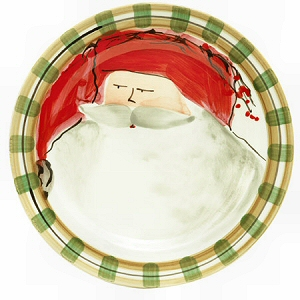 Designer Christmas Dinner Plate Old St. Nick with a Red Hat 10.75\ D $62.00  sc 1 st  Country Gourmet : red christmas dinnerware - pezcame.com
