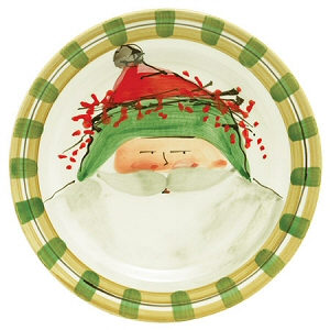 Old St. Nick with a Green Hat 10.75 D $62.00  sc 1 st  Country Gourmet & Country Christmas Dinnerware - Christmas Country Dinnerware Italian ...