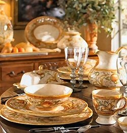 Classic Italian Dinnerware Collection : country dinnerware - Pezcame.Com