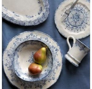 Setting a Rustic Country Table with Italian Dinnerware & Designer Dinnerware - Italian Design Dinnerware Italy Blue White ...