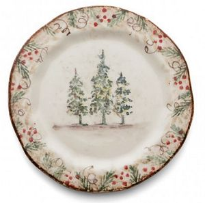 Traditional Italian Dinnerware Salad Plate. Classic Winter / Christmas Salas Plate Italy  sc 1 st  Country Gourmet & Country Christmas Dinnerware - Italian Christmas Dinnerware Italy ...