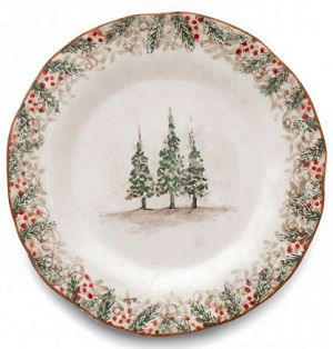 Classic Winter / Christmas Dinner Plate Italy  sc 1 st  Country Gourmet & Country Christmas Dinnerware - Italian Christmas Dinnerware Italy ...