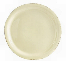 Dinner Plate in Cream and Saffron