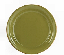 Salad Plate in Sage and Cream