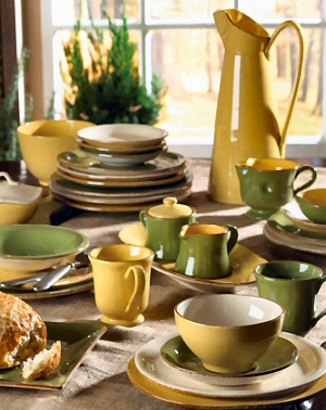 Setting a Casual Table with Italian Dinnerware & Designer Dinnerware - Casual Italian Dinnerware Italian Designer ...