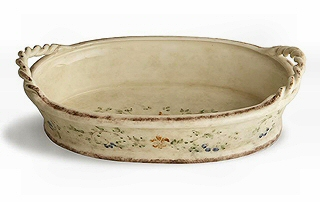 Rustic Italian Bowl with Rope Handles