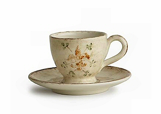 Rustic Italian Cup and Saucer