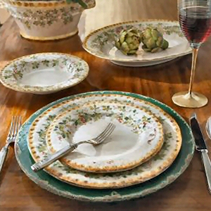 Setting a Rustic Country Table with Italian Dinnerware & Designer Dinnerware - Italian Design Dinnerware Italy Vineyard ...